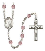 Women's St Therese Of Lisieux Rosary Beads Birthstone June R6000LAMS-8210 - $74.55