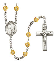 Women's St Therese Of Lisieux Rosary Beads Birthstone November R6000TPS-... - $74.55