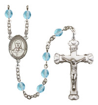 Women's Blessed Pier Giorgio Frassati Rosary Beads Birthstone  R6001AQS-... - $74.55