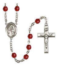 Women's Blessed Caroline Gerhardinger Rosary Beads Birthstone July R6000... - $74.55