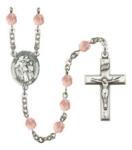 Women's Guardian Angel Rosary Beads Birthstone October R6000PKS-8439 - $74.55
