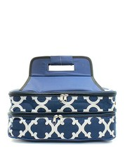 NAVY BLUE GEOMETRIC PRINT INSULATED CASSEROLE CARRIER! Parties/Tailgatin... - $39.95