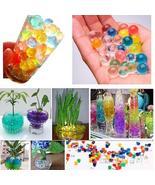 Pearl shaped Crystal Soil Water Beads Grow Magic Jelly balls wedding Hom... - $5.37