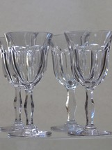 Cut glass water  fluted panel goblets 4 pieces - $120.27