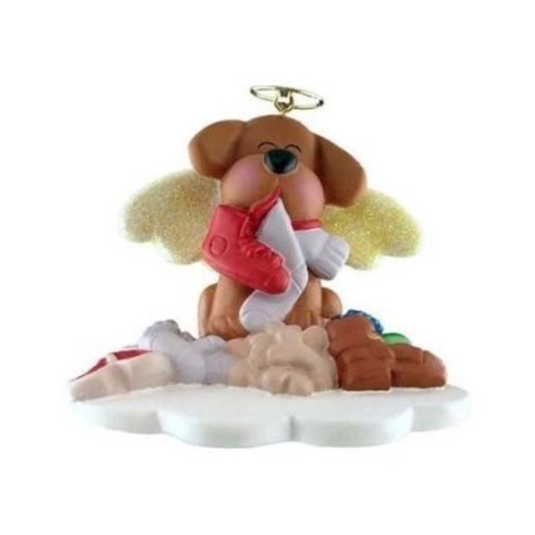 MY BROWN DOG PUPPY DOG IS AN ANGEL ORNAMENT GIFT FROM HEAVEN GOD CHRISTMAS GIFT