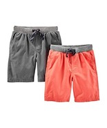 Simple Joys by Carter's Baby Boys' Toddler 2-Pack Shorts, Red, Gray, 4T - $24.45