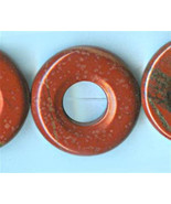 25mm Red Jasper Donut Beads (16 per strand) - $6.86