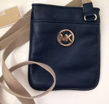 MICHAEL KORS FULTON CROSSBODY LEATHER BAG - NWT - $116.82