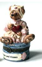 """Boyds Bears- Le Bearmoge Porcelain Box """"Rosemary Bearhugs"""" #392028- 1E- Retired - $29.99"""