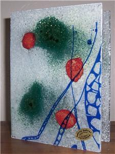 GLASS ART Hand Made Fused Glass Designed Vase By Hanna Bahral Israel