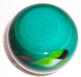 GLASS ART MURANO STYLE GREEN & COLORED DESIGNS VASE