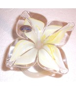 GLASS ART MURANO VETRO ESEGUITO HANDBLOWN PETAL FLOWER - $55.14
