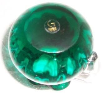 GORGEOUS DESIGNS HANDBLOWN GREEN GLASS JUG/VASE