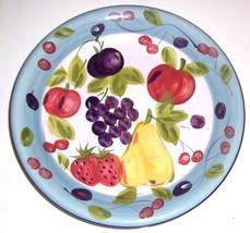 Gibson Handpainted Fruit Designed Large Serving Platter - $25.26