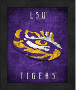 "LSU Tigers ""Retro College Logo Map"" 13x16 Framed Print  - $39.95"