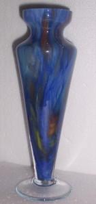 Glass Art Handblown Venetian Glass Slender Vase