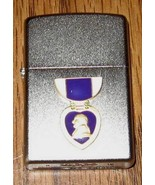 "ZIPPO "" PURPLE HEART "" Lighter. New in Box. Raised emblem. Free Shipping. - $38.60"