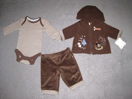 INFANTS NEWBORN - Disney - Mickey Mouse Polar Pals BODYSHIRT, JACKET & P... - $12.60