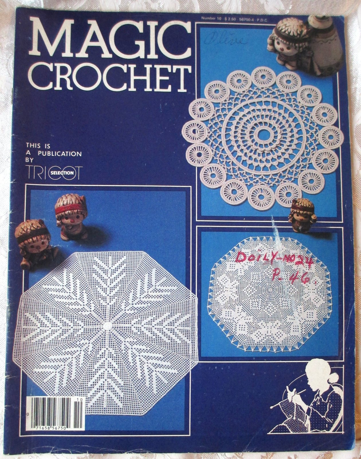 Primary image for Magic Crochet Tricot Selection #10 -- Back Issue, Vintage Crochet Magazine, 1982