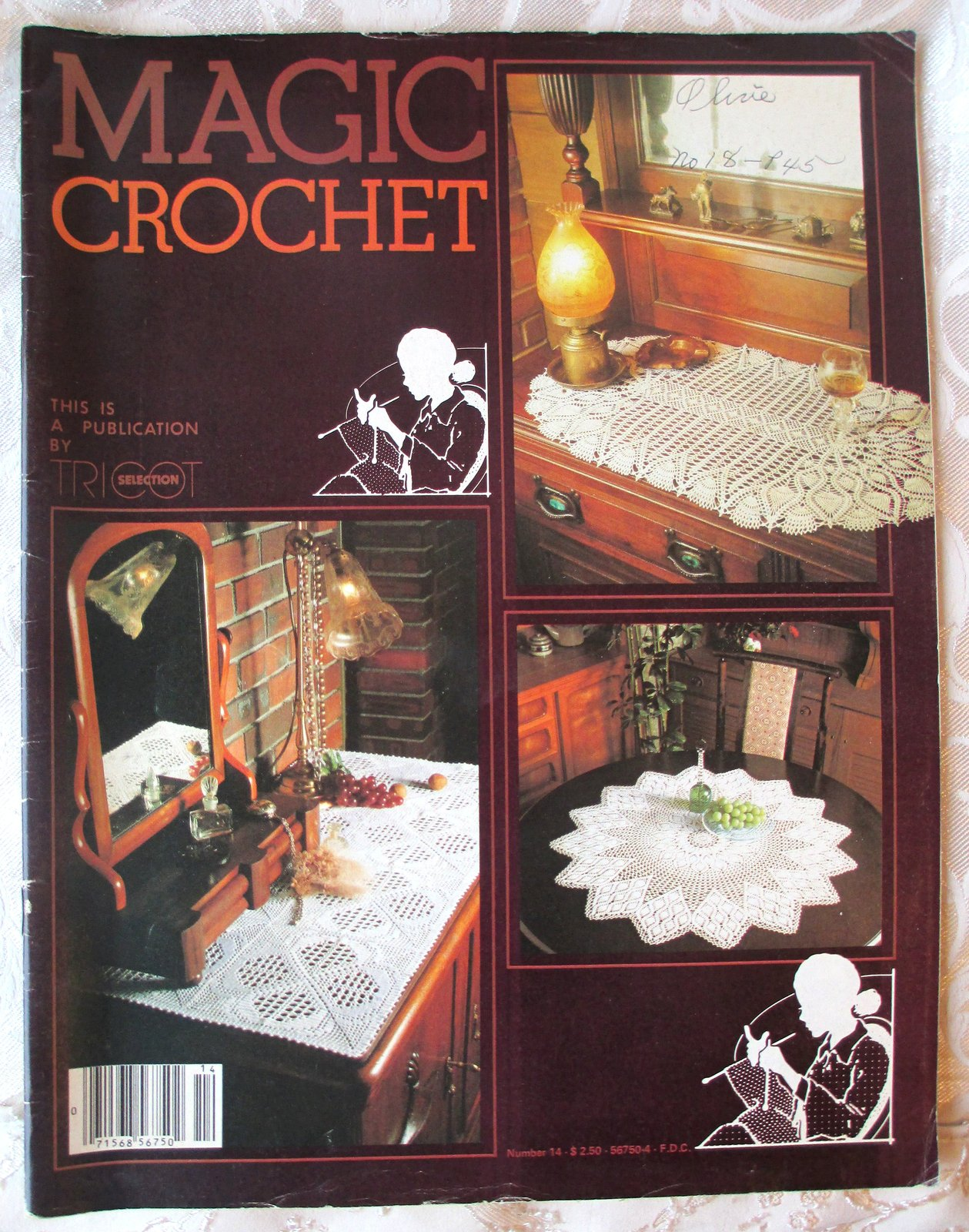 Primary image for Magic Crochet Tricot Selection #14 -- Back Issue, Vintage Crochet Magazine, 1982
