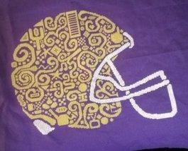 Tribal Football Helmet monochrome cross stitch chart White Willow Stitching - $9.00
