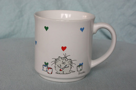 Vintage Hallmark Coffee Mug with Cat Love - $8.99