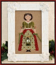 My Lady At Christmas holiday cross stitch chart Little House Needleworks - $7.20