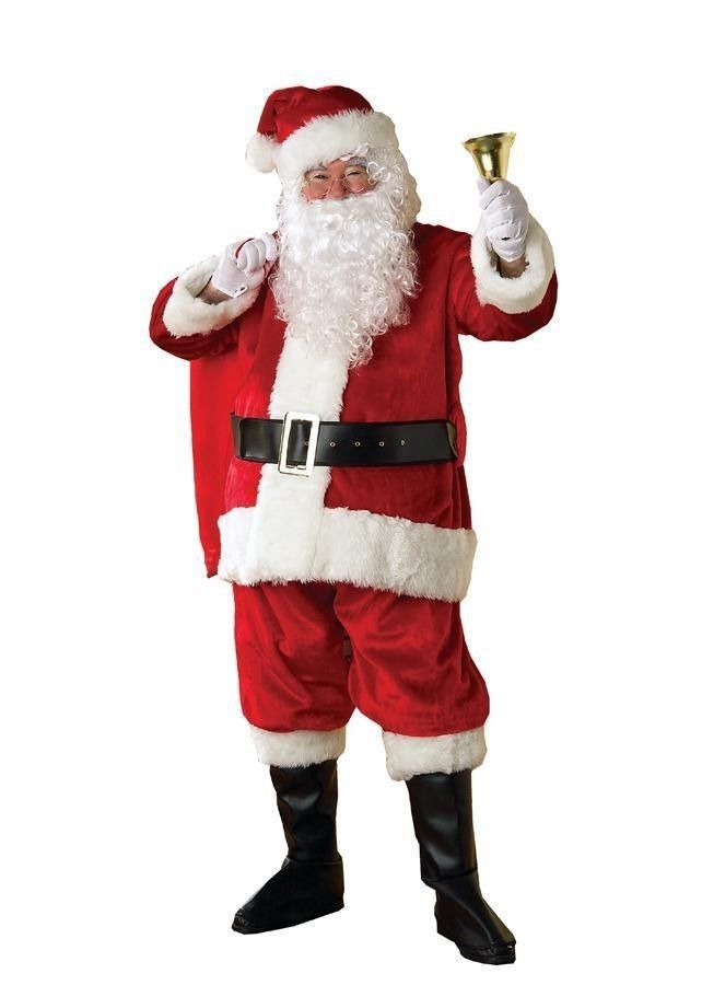 Primary image for Santa Claus Costume Santa Suit Plush and Faux Fur one size
