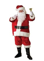 Santa Claus Costume Santa Suit Plush and Faux Fur one size   - £97.22 GBP