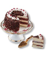 DOLLHOUSE Black Forest Cake Set Reutter 16638 Lisa Miniature  - $15.50