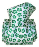 MEN'S GREEN, WHITE FLORAL 100% SILK CLASSIC TIE CR2315469-62 - $24.48