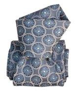 MEN'S NAVY, SILVER, BLUE, WHITE FANCY 100% SILK CLASSIC TIE CR32513698-01 - $24.48