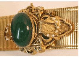 Antique Edwardian Mesh jeweled enamel bracelet - $295.00