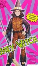 Funky Neon Witch Orange 8/10 Childs Costume  - $19.00