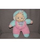 MY LITTLE BABY DOLL RATTLE BABY PINK LIME GREEN TERRY THERMAL SOFT STUFF... - $37.61