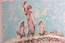 "HAND S/N BAT SHLOMO JUDAICA ""FAMILY"" LITHO ART PRINT - $484.14"