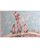 "HAND S/N BAT SHLOMO JUDAICA ""FAMILY"" LITHO ART PRINT - $484.14"