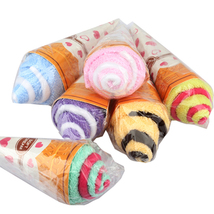 Gift Portable Double Color Cute Soft Washing Towel Ice Cream Shaped Gift... - $6.57