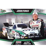 2013 John Force Castrol Ford Mustang Funny Car NHRA postcard - £1.53 GBP