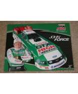 2009 John Force Castrol Ford Mustang Funny Car NHRA postcard - £1.53 GBP