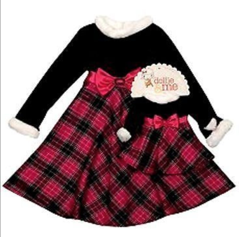Girls 2t  3t or 4t   18 in dolls   dollie   me black   fuchsia dressy dresses