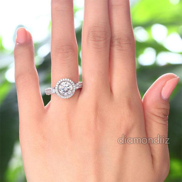 2 Ct Lab Diamond Vintage Bridal Wedding Engagement Ring Fine 925 Sterling Silver