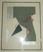 "HAND SIGNED S.BANKS ""SECONDS"" ABSTRACT ART LITHO PRINT - $211.50"