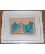 HAND SIGNED S. NICHOLS PAPIER COLLE SOUTHWESTERN ART - $94.49