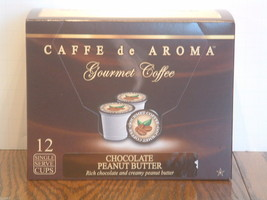 Caffe De Aroma Flavored Choc Peanut Butter 12 Single Serve K-Cups Free ... - $10.45