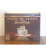 Caffe De Aroma Flavored Choc Peanut Butter 12 Single Serve K-Cups Free ... - $9.99
