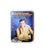 "Star Trek ""James T. Kirk"" 5 embossed metal cards sealed tin (1997) - bra... - $25.99"