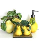 "Fat Chef Pear Garden ""Handmade"" Unsigned 3D Home Decor - $24.00"