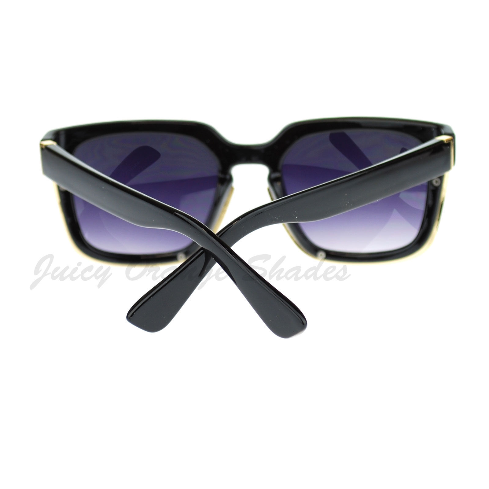 Unisex Hip Retro Sunglasses Metal Underlined Square Frame
