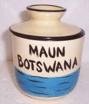 "HANDCRAFTED & PAINTED ""MAUN, BOTSWANA"" SOUVENIR POTTERY - $55.16"